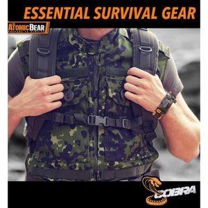 The Atomic Bear Accessories - Cobra Adjustable Survival Bracelets
